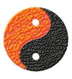 Yin and yang made of caviar vector illustration Royalty Free Stock Photography