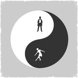 Yin Yang-Male and Female symbol Stock Photo