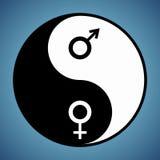 Yin Yang Man e donna Fotografia Stock