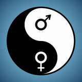 Yin Yang Man and Woman Stock Photo