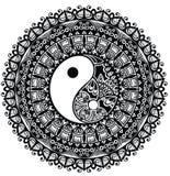 Yin Yang. Mandala. Decorative mandala with Yin Yang royalty free illustration