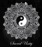 Yin and Yang mandala symbol. Royalty Free Stock Photo
