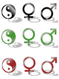 Yin Yang, Mannes- und Frausymbol Stockbild