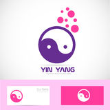 Yin yang meditation logo. Vector company logo icon element template yin yang symbol tao Stock Photography