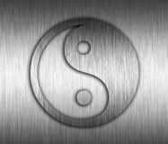 Yin Yang Metal background Stock Images