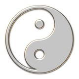 Yin Yang Metallic Royalty Free Stock Photos