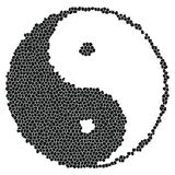 Yin-Yang Mosaic Stock Photo