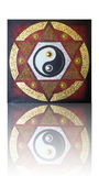 Yin Yang na estrela seis-aguçado Fotografia de Stock Royalty Free