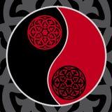 Yin-yang nel colore rosso Fotografia Stock Libera da Diritti