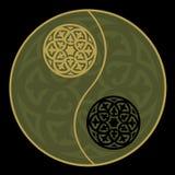 Yin-yang nel verde Immagini Stock Libere da Diritti