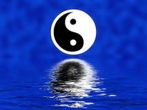 Yin yang op vage achtergrond Stock Afbeeldingen