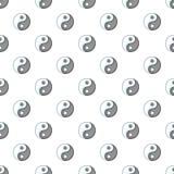 Yin Yang pattern, cartoon style. Yin Yang pattern. Cartoon illustration of Yin Yang vector pattern for web Stock Photos