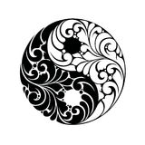 Yin Yang pattern symbol Stock Photo