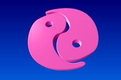 Yin Yang pink Stock Image