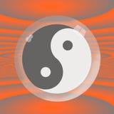 Yin Yang Pod szkłem Fotografia Royalty Free