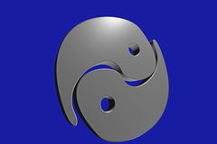 Yin-Yang polished metal Royalty Free Stock Image