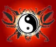 Yin yang poster. Poster design with Yin & Yang which is the symbol of harmony and balance Royalty Free Stock Image