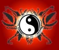 Yin yang poster Royalty Free Stock Image