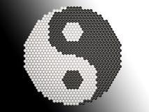 Yin Yang Puzzlespiel Stockfoto