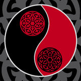 Yin-yang in red. Yin-yang symbol in red and black Royalty Free Stock Photo