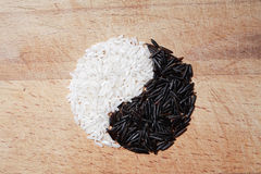 Yin Yang Rice Symbol Royalty Free Stock Images
