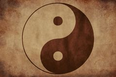 Yin Yang rustic texture on dirty background royalty free stock photo