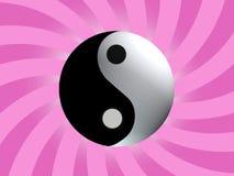 Yin Yang Schwerpunkt-Symbol Lizenzfreies Stockbild
