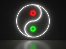 Yin Yang - Series Neon Signs Stock Images
