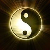 Yin Yang sign Stock Images