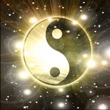 Yin Yang sign Stock Photos