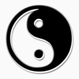 Yin yang sign Stock Image