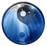 Yin Yang sign. On a white background Royalty Free Stock Photos