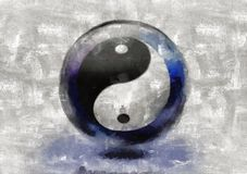 Yin Yang. Sign. This image created in entirety by me and is entirely owned by me and is entirely legal for me to sell and distribute Stock Image