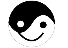 Yin yang smile Royalty Free Stock Photos