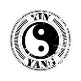 Yin and yang stamp Stock Photo