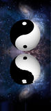 Yin Yang Stars Reflect Stock Image
