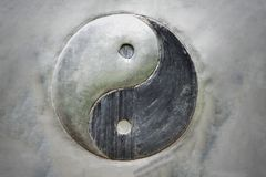 Yin Yang steel patterns on background stock images