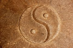 Yin Yang stone background Stock Images