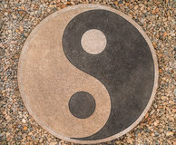 Yin-yang of the stones on the road stock photography