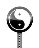 Yin yang street sign illustration design Stock Photos