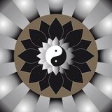 The yin and yang sunshine. Vector illustration of the yin and yang sunshine Royalty Free Stock Images