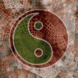Yin Yang sur le fond abstrait de texture illustration libre de droits