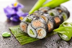 Yin Yang Sushi Roll Stock Photography
