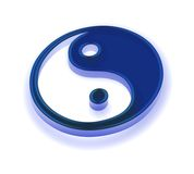 Yin and Yang symbol. Three dimensional Chinese Yin and Yang symbol, isolated on white background Royalty Free Stock Image