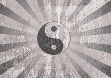 Yin yang symbol stock photo