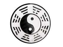 Yin yang symbol. With trigrams Royalty Free Stock Photography