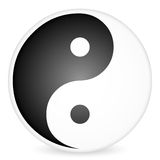 Yin-yang symbol 2 Royalty Free Stock Photography