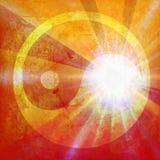 Yin and yang symbol. On background grunge Royalty Free Stock Image