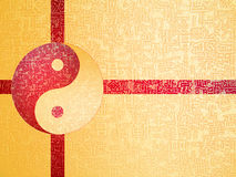 Yin-Yang symbol. With chinese letter, The sign of the two elements Royalty Free Stock Photography