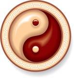 Yin Yang Symbol. Composition Including Vector Format royalty free illustration